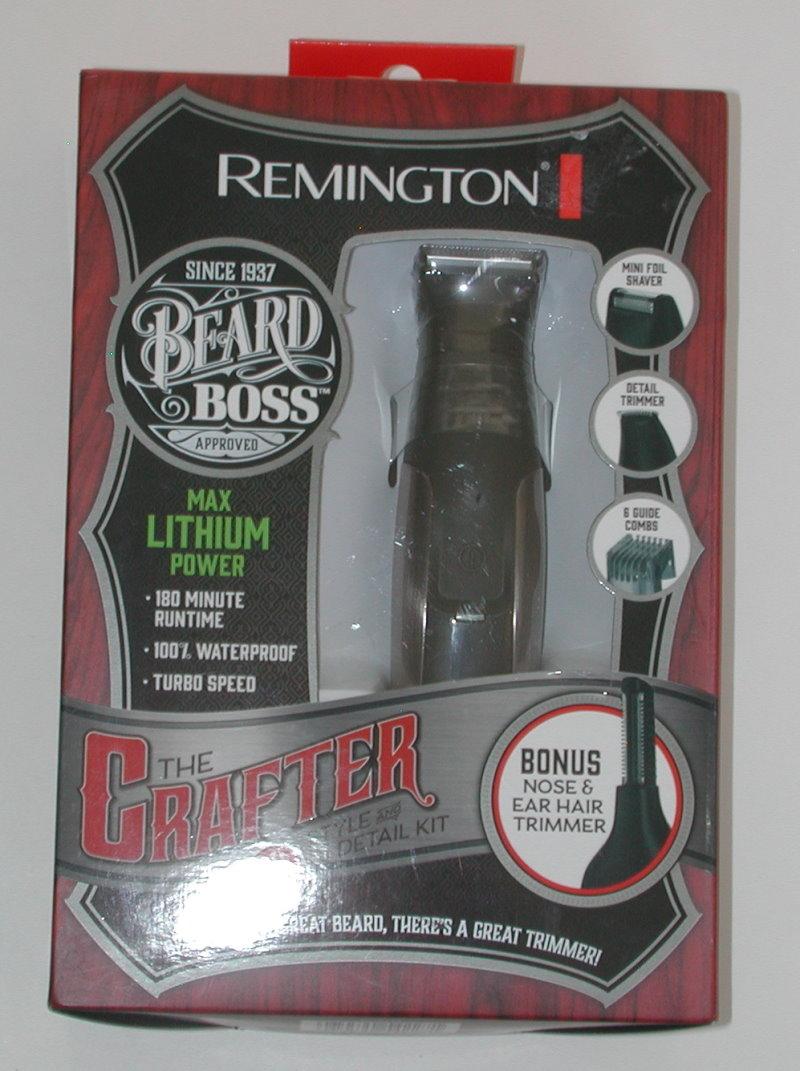 remington the crafter mens beard styling trimmer w bonus trimmer brand new r9824 ebay. Black Bedroom Furniture Sets. Home Design Ideas