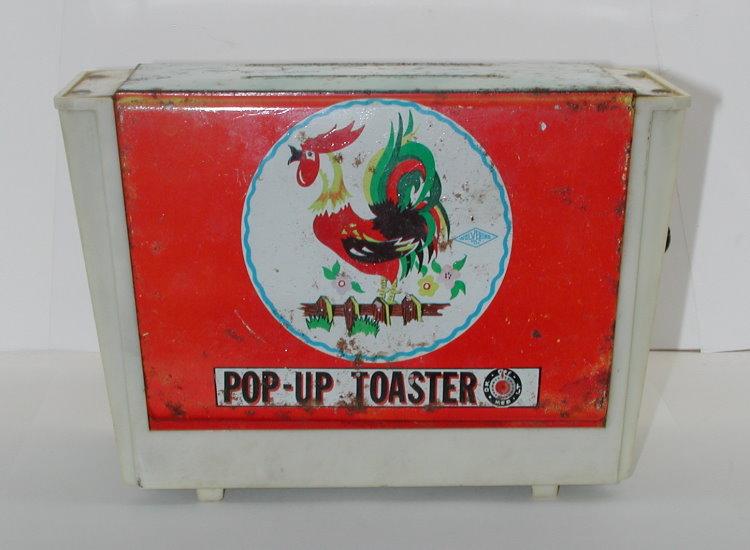 Pop Up Toaster ~ Vintage wolverine pop up toaster tin toy ebay