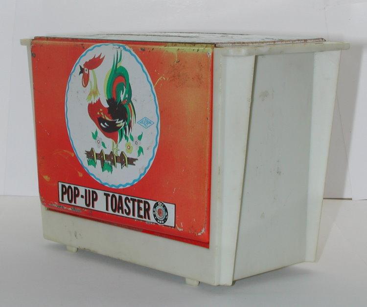 Pop Up Toaster ~ Vintage wolverine pop up toaster tin toy