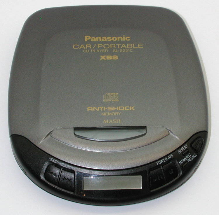 panasonic car portable cd player sl s221c xbs working. Black Bedroom Furniture Sets. Home Design Ideas