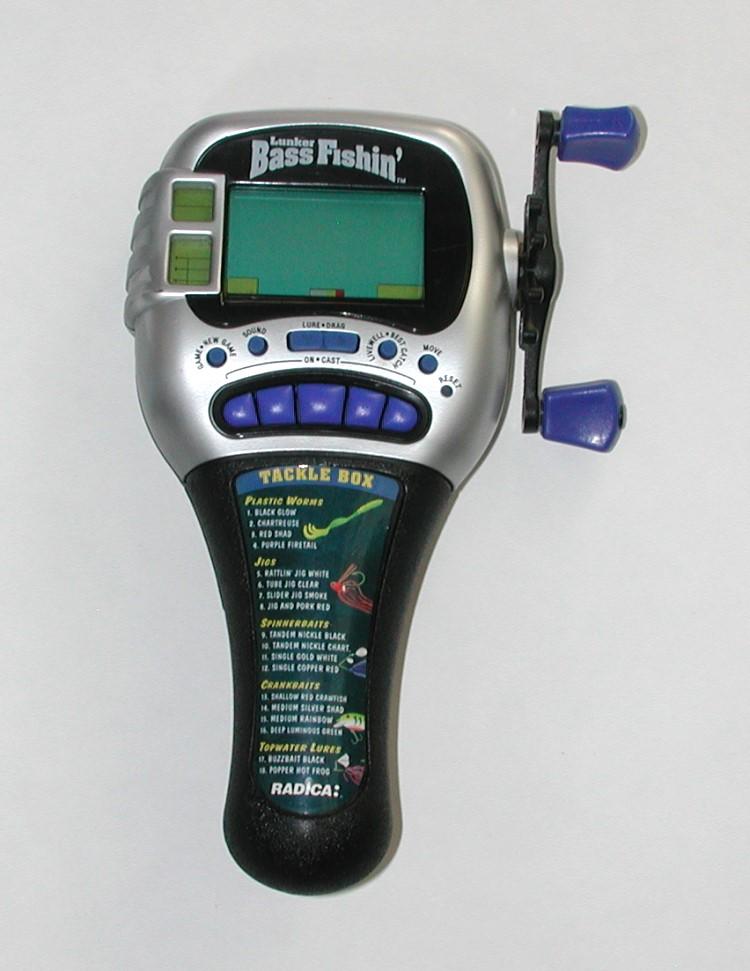1997 radica lunker bass fishin 39 electronic handheld