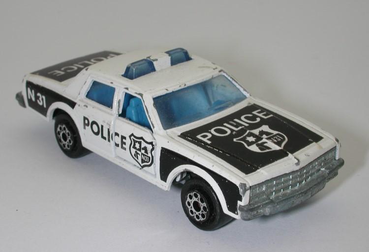 All Original Vintage Rochester Police Car Very Rare: Majorette Chevrolet Impala No. 240 1/69 Police Car Oc11560